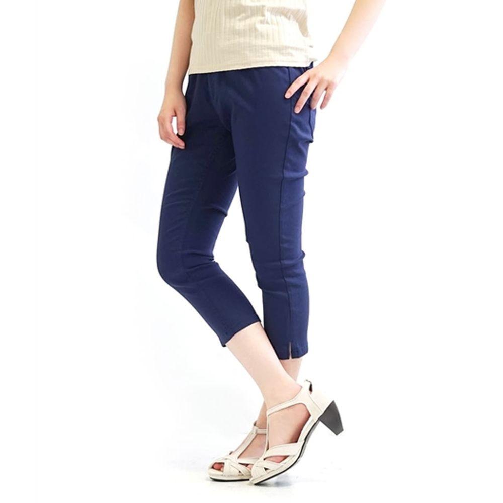 日本 zootie - Air Pants 輕薄彈性修身七分褲-深藍