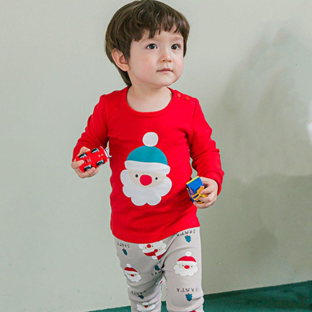 韓國 Cordi-i - 20支無螢光棉長袖家居服-聖誕老公公
