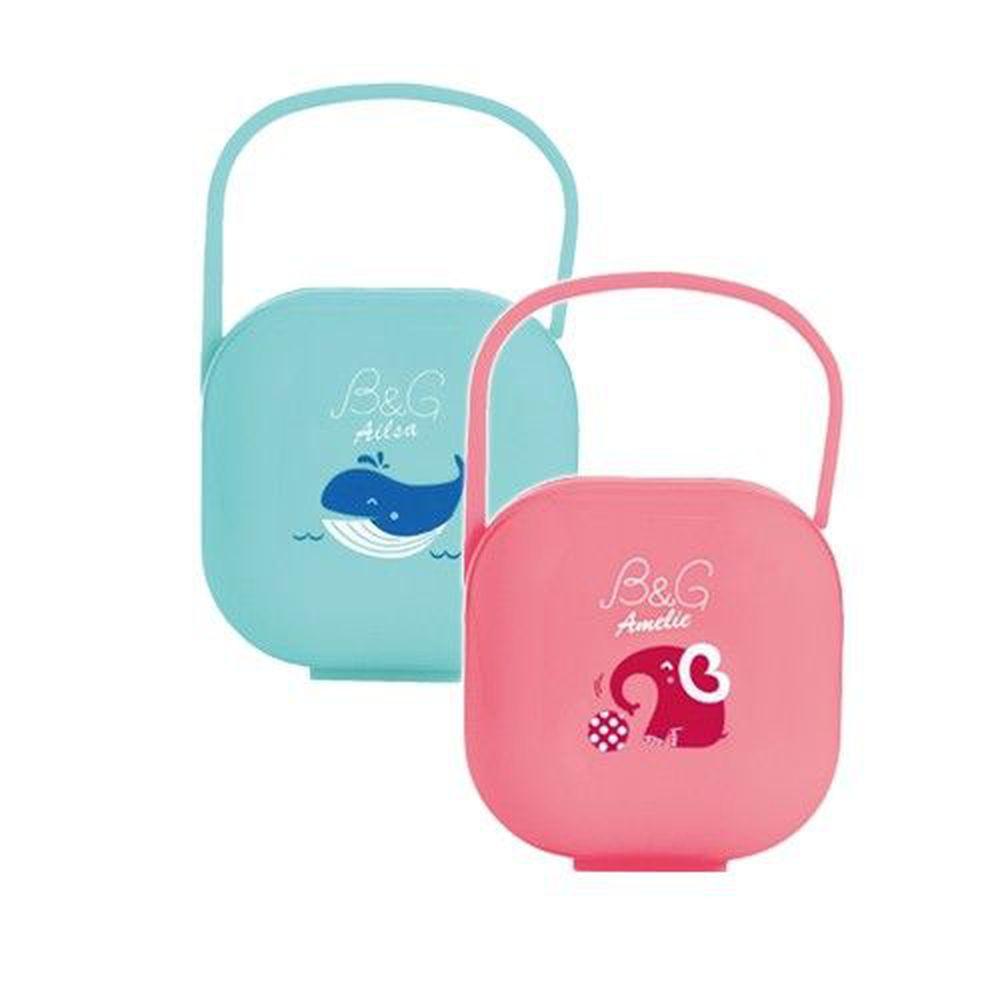 Baby Garden - 安撫奶嘴收藏盒-二入組-小藍鯨+小紅象