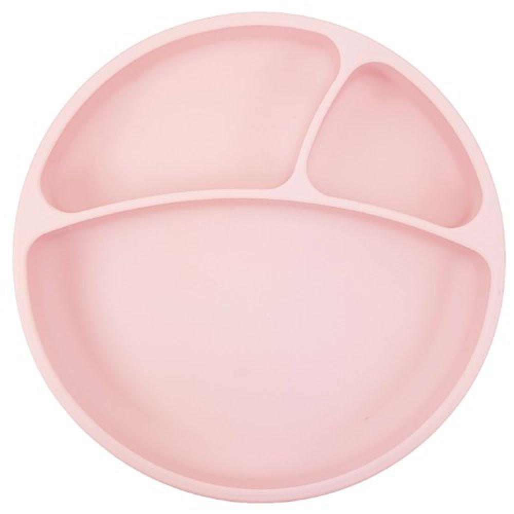 土耳其 minikoioi - 防滑矽膠餐盤-薔薇粉