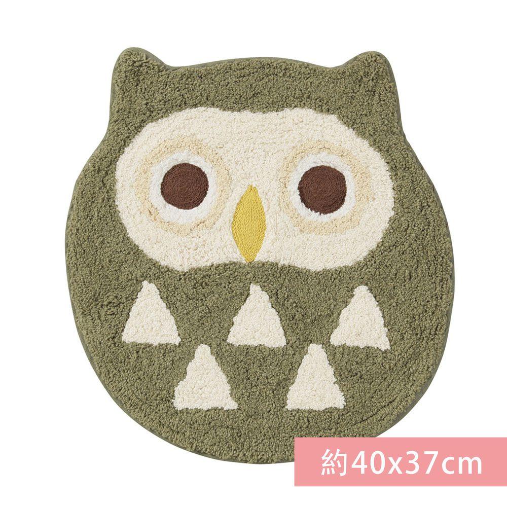日本代購 - 造型腳踏墊-貓頭鷹-灰 (約40x37cm)
