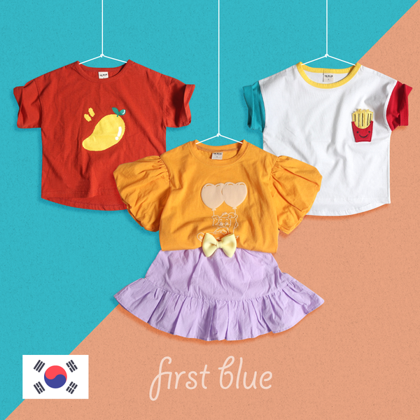 3/18新品加入 夏季繽紛穿搭 ☀ 韓國製 First Blue