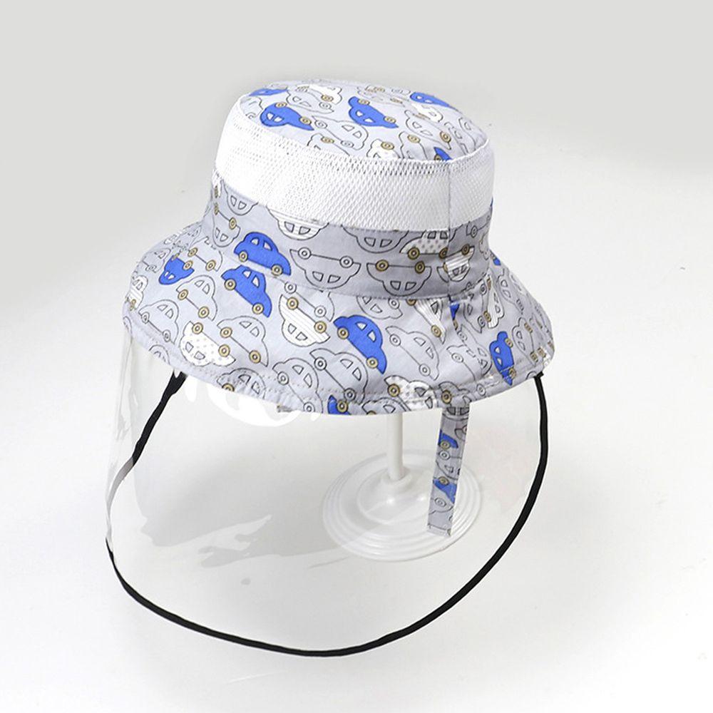 透氣網眼防飛沫雙面遮陽帽-噗噗汽車