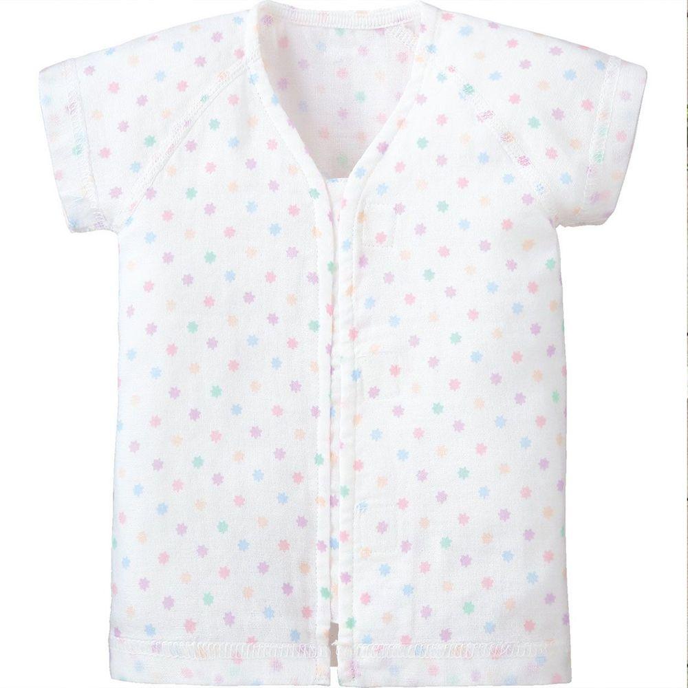日本 Combi - mini系列-純棉紗布肚衣-點點花