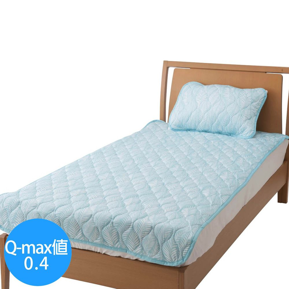 日本小泉 - 節電對策冷感波浪紋床墊毯-搖曳水草-薄荷 (100x205cm)
