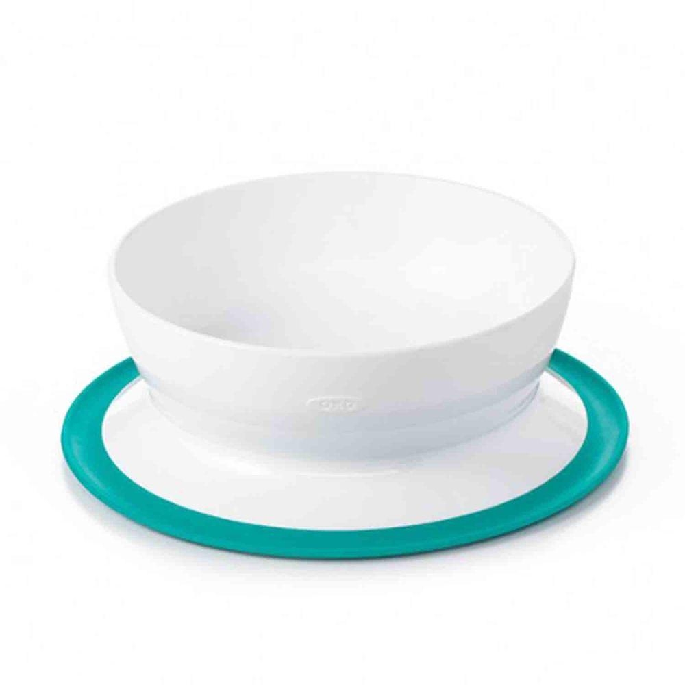 美國 OXO - 好吸力學習碗-靓藍綠