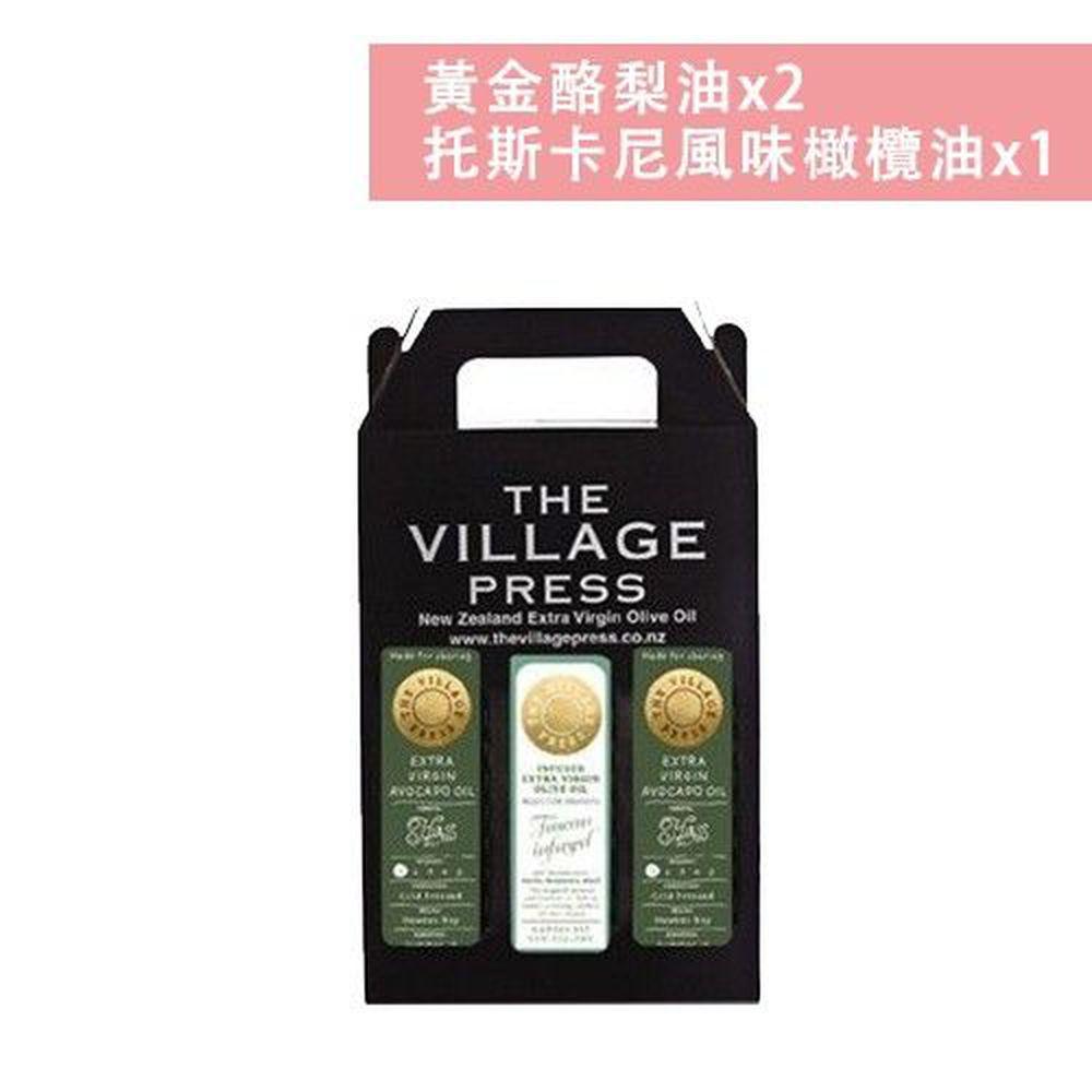 壽滿趣 - 紐西蘭廚神 頂級豪華優惠三件禮盒組-黃金酪梨油*2+托斯卡尼風味橄欖油-250ml*3
