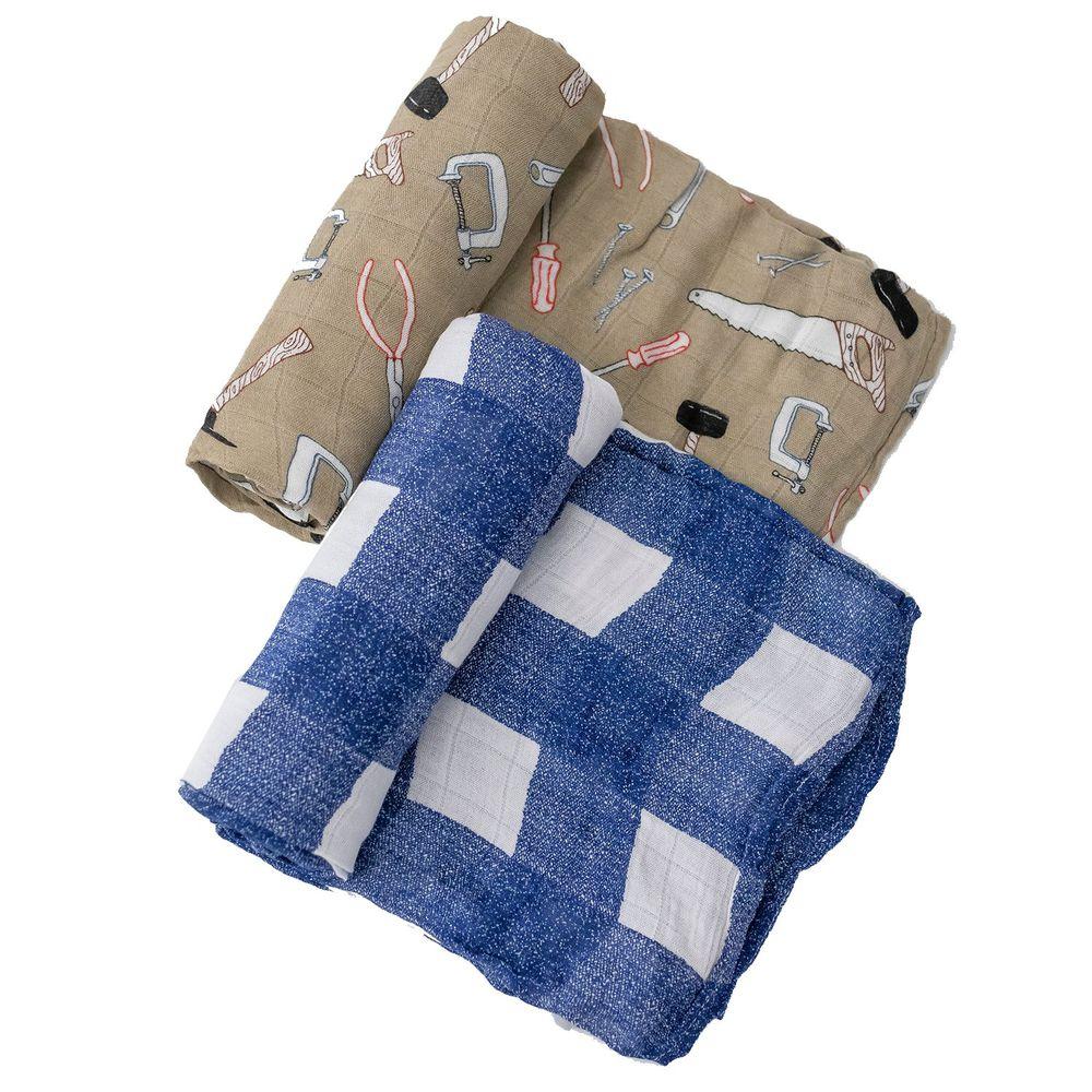 美國 Little Unicorn - 竹纖維紗布巾兩入組-工具箱