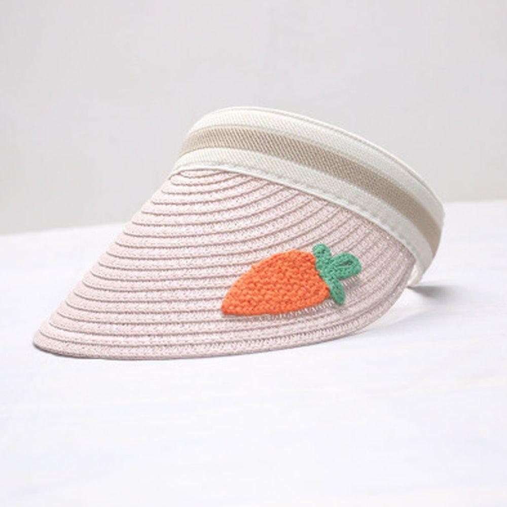 鴨舌遮陽草帽-粉色蘿蔔 (小孩款(46-53cm))