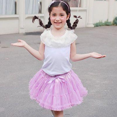 棉花糖澎澎裙-甜美紫