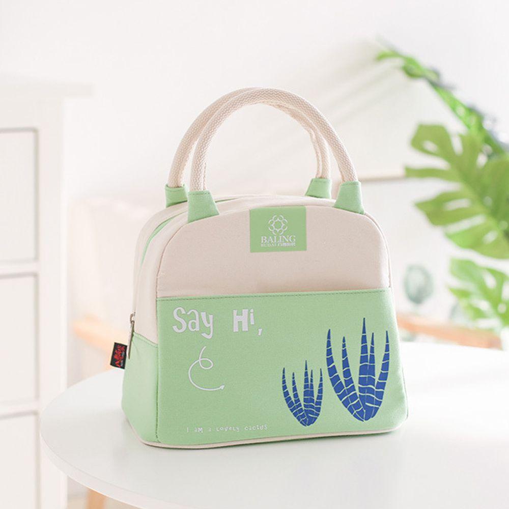 清新手提保溫午餐包便當袋-綠色 (24*16*21cm)