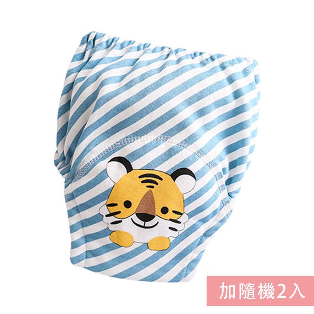 JoyNa - 嬰兒純棉學習褲-3件入-藍條老虎+隨機2入