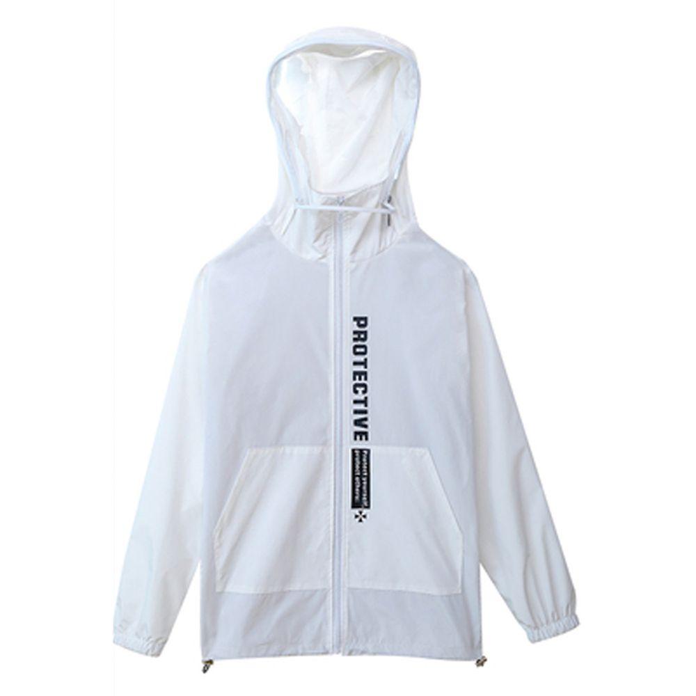 防飛沫連帽外套-防水升級款-白色-(非醫療用品)
