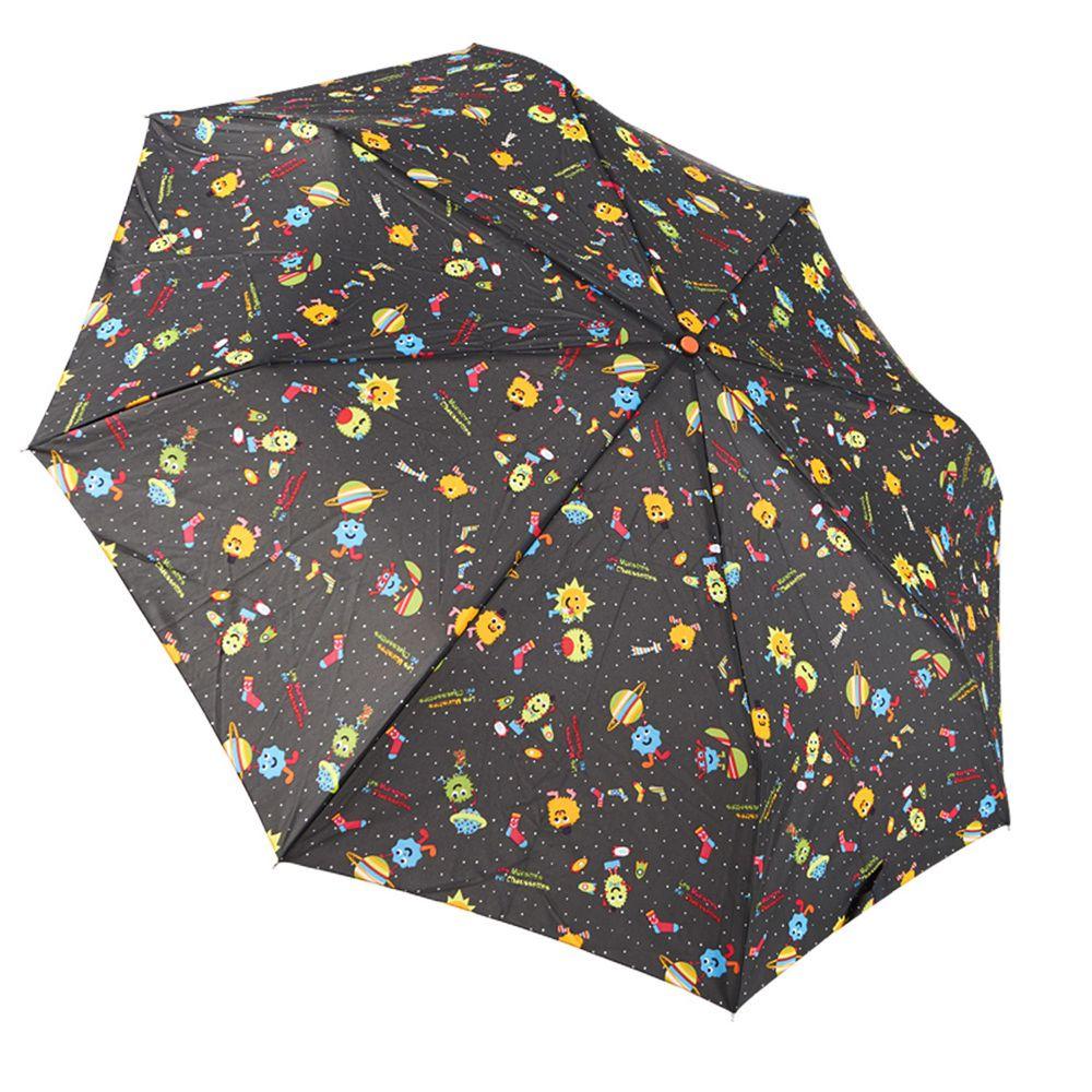 Rainstory - 抗UV隨身自動傘-怪獸PARTY-咖啡