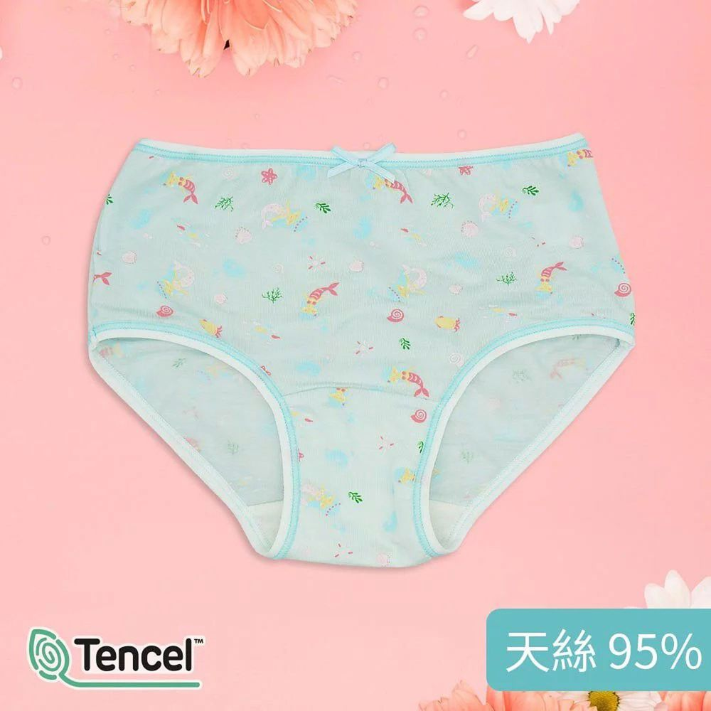 Annypepe - 女童95%天絲美人魚三角褲-水色 (100-150cm)
