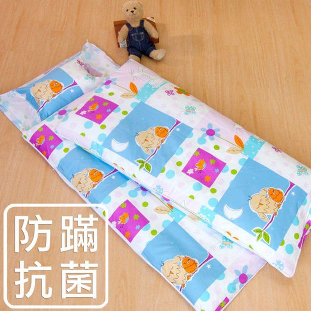 鴻宇HONGYEW - 防螨抗菌100%美國棉鋪棉兩用兒童睡袋-晚安貓頭鷹