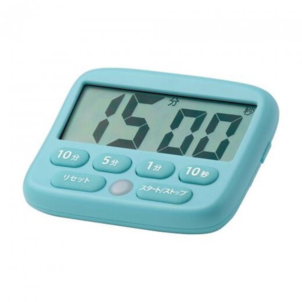 日本文具 SONIC - 專注力集中 斜面倒數計時器(可消音發光提示)-水藍