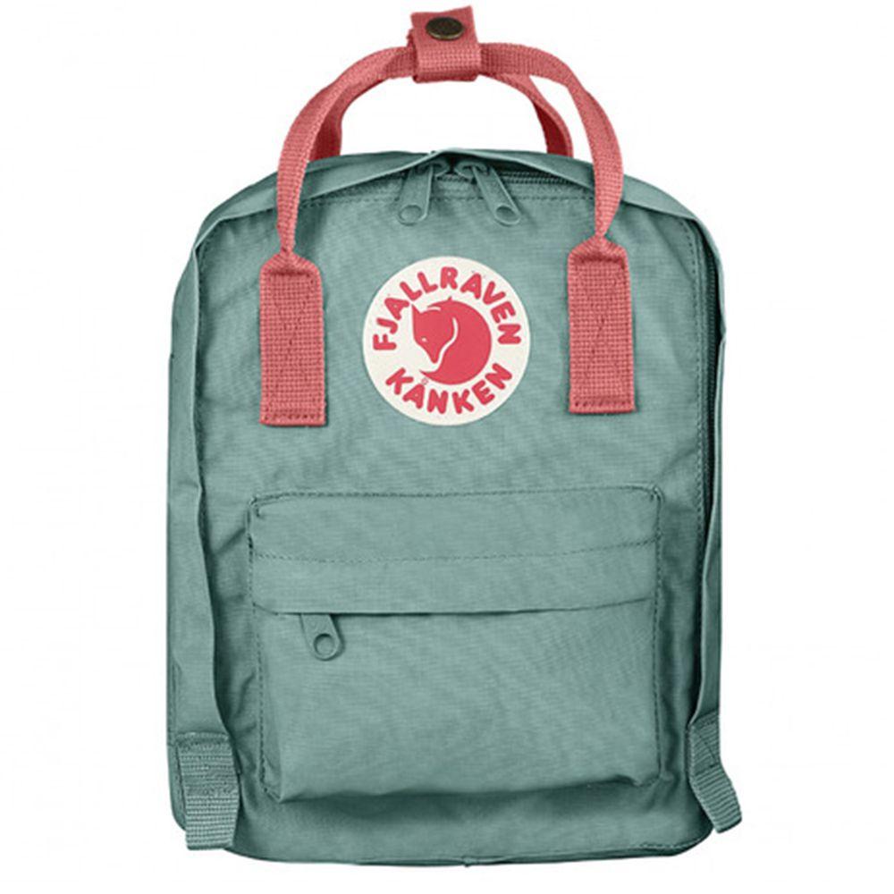 FJALLRAVEN - Kanken Kids 孩童後背包-霜綠/桃粉紅 (20x13x29cm)