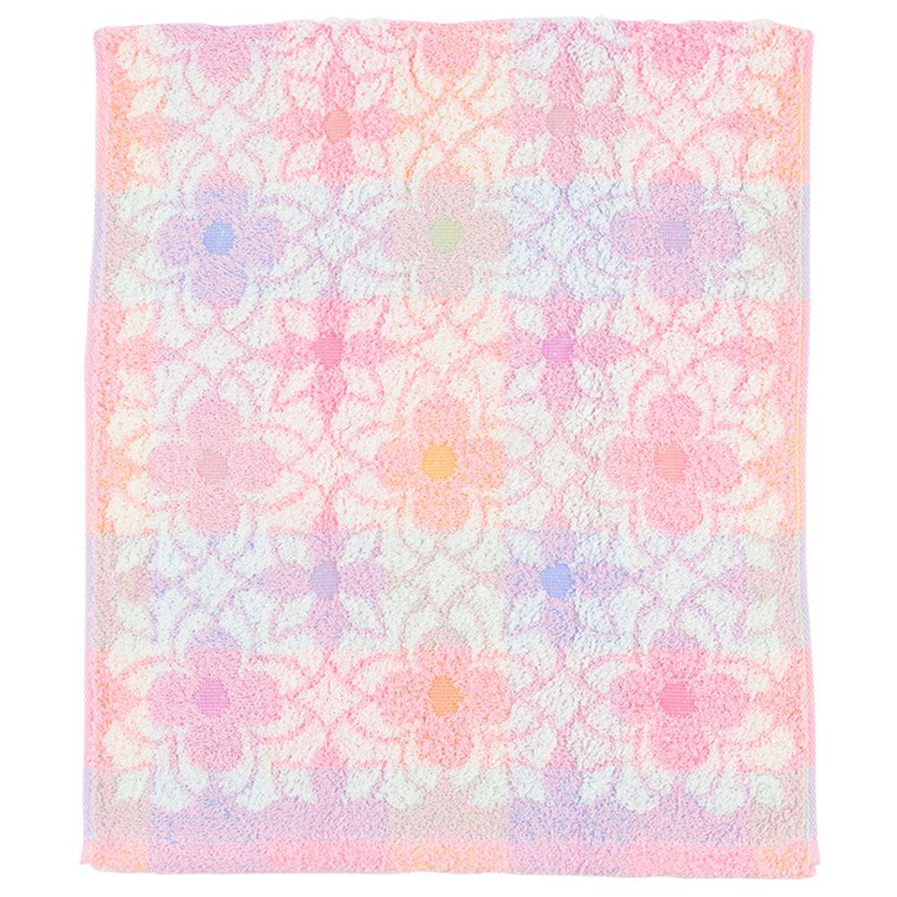 akachan honpo - 今治洗臉巾-花紋-粉紅色 (34×80cm)