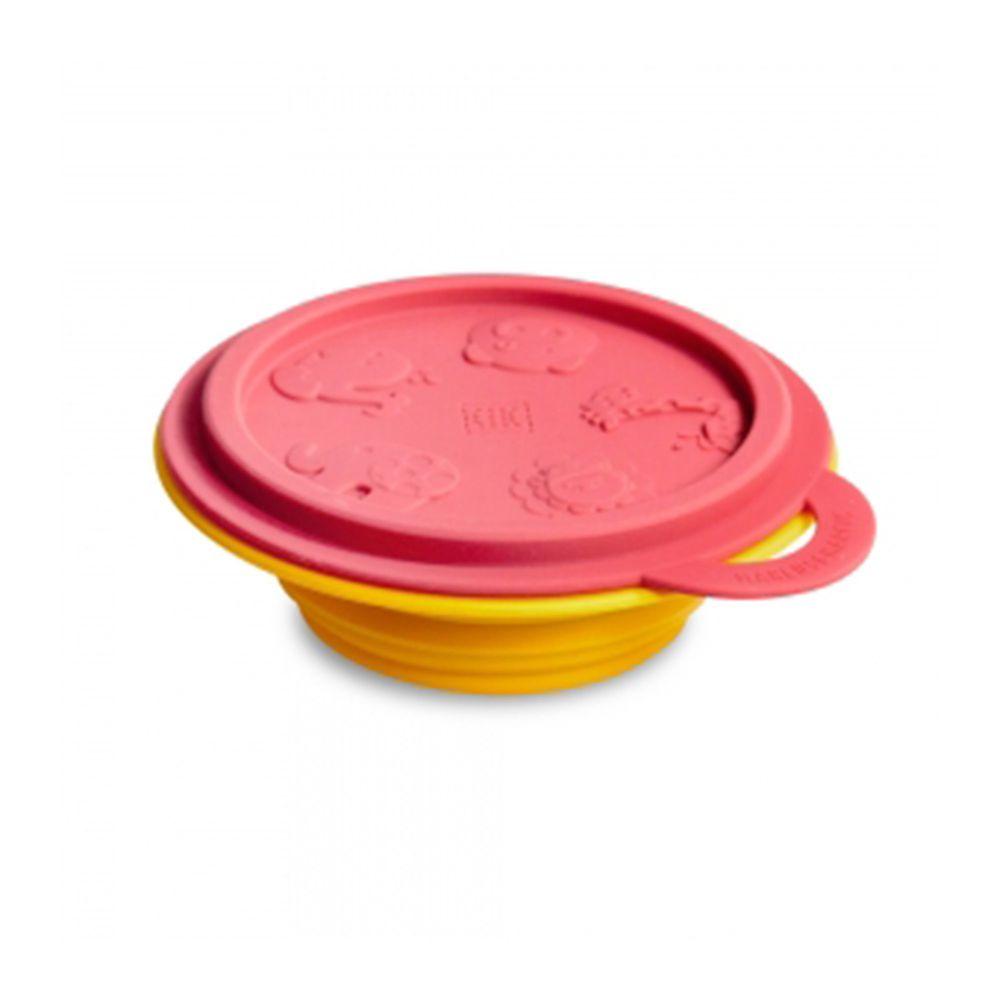 MARCUS&MARCUS - 動物樂園矽膠摺疊碗-紅獅子