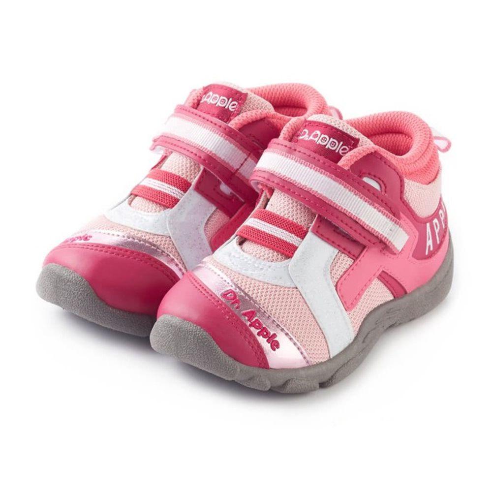 Dr. Apple - 機能童鞋-字母流線剪裁閃亮童鞋-粉