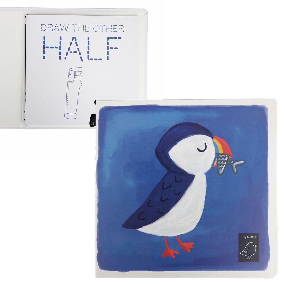 美國Jaq Jaq Bird - 水彩著色畫冊-海雀-含小盒粉筆及水彩筆