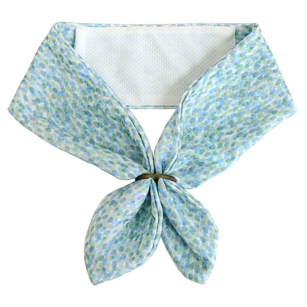日本 DAIKAI - 抗UV接觸冷感 水涼感領巾(可放保冷劑)-漣漪光點 (70x8cm)