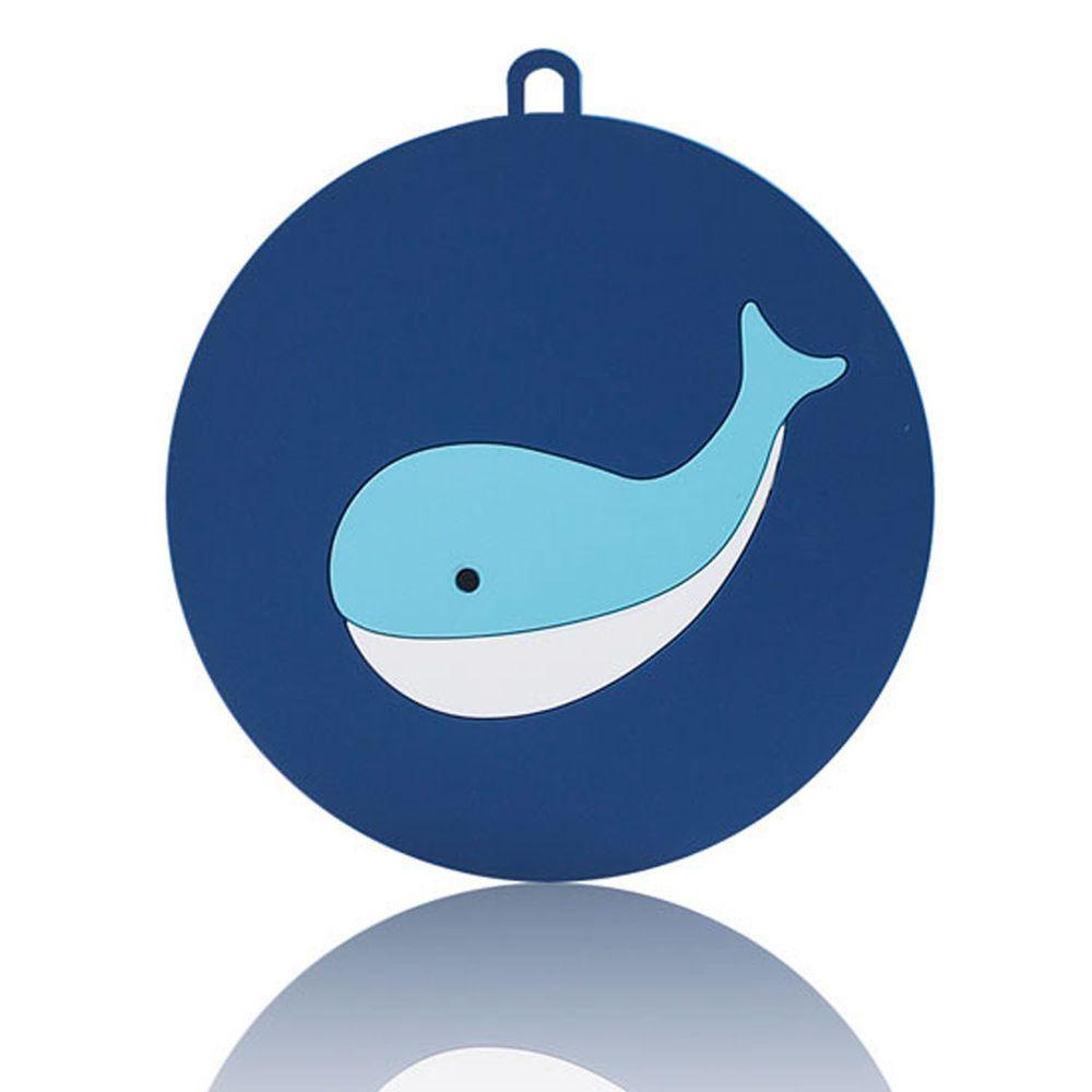 北歐矽膠圓形隔熱墊-鯨魚