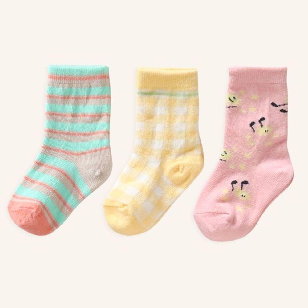 韓國 Kokacharm - 韓國製踝襪-三件組-DANDELION SONG