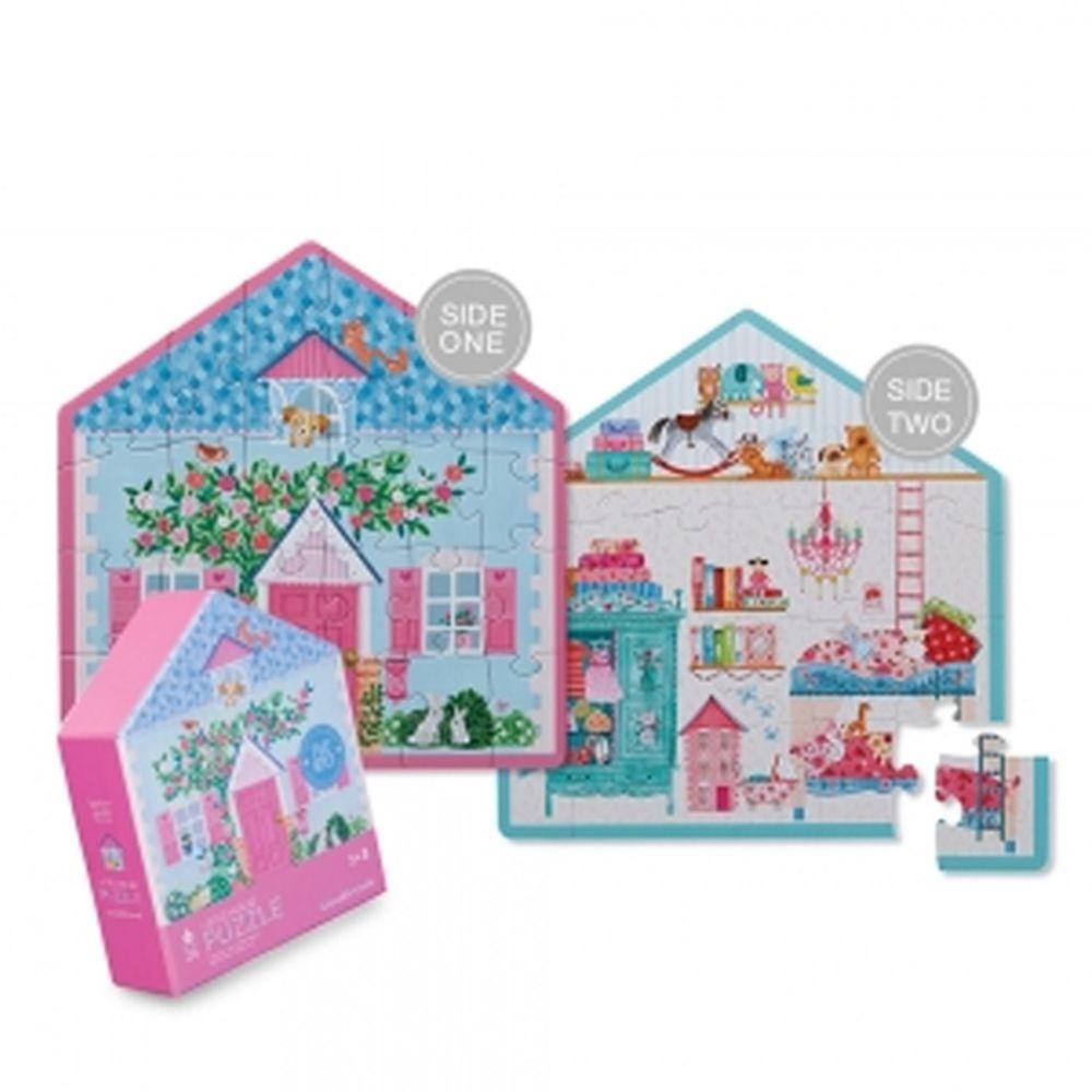 Crocodile Creek - 童話小屋雙面學習拼圖-娃娃小屋 (24片)-3歲以上