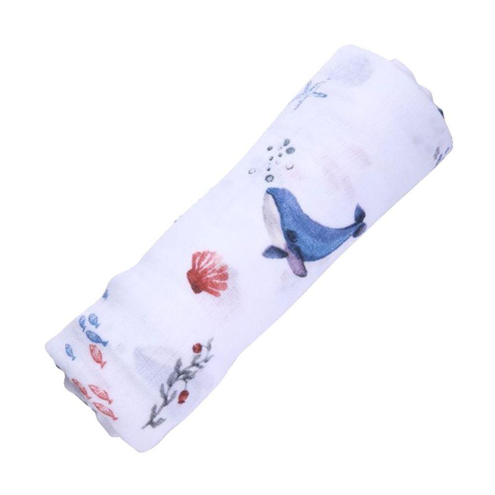美國 Malabar baby - 有機棉包巾-海之樂章 (120*120cm)