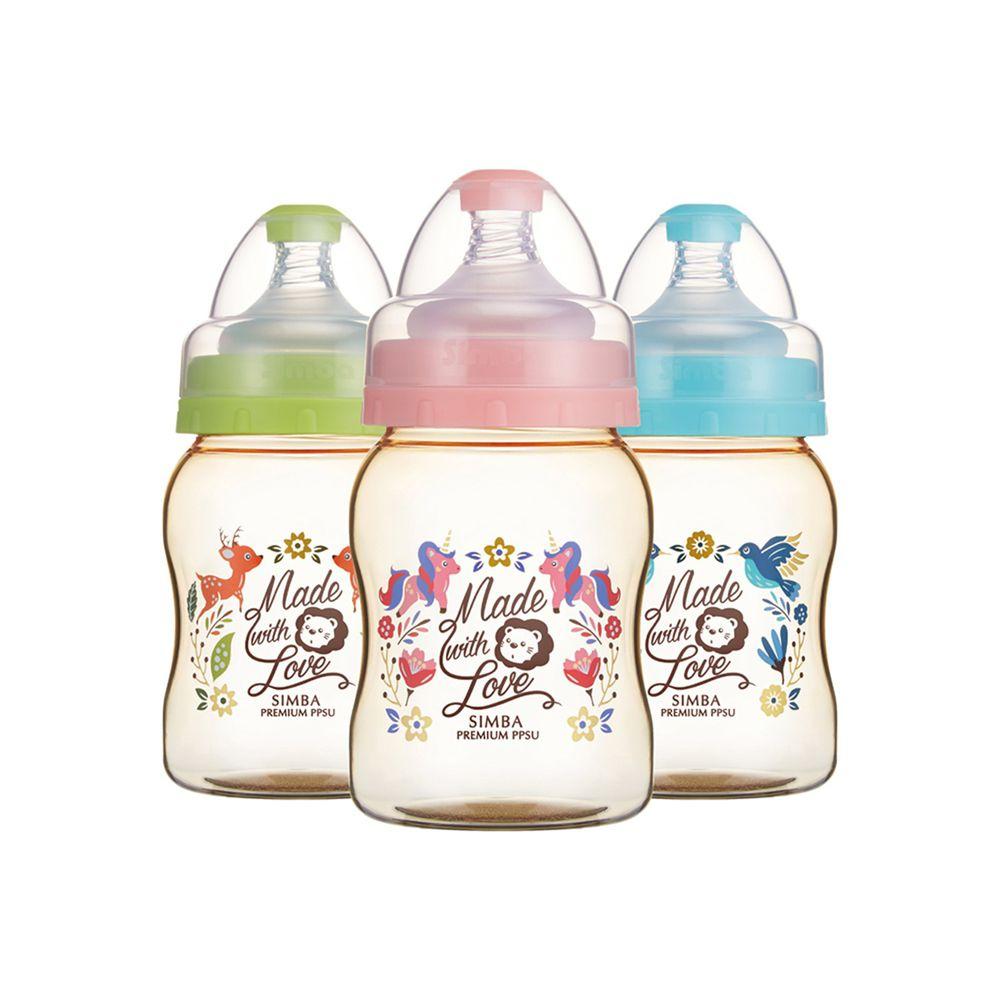 Simba 小獅王辛巴 - 桃樂絲PPSU寬口葫蘆小奶瓶-3支組(200ml)-均色(丘比特+圓舞曲+獨角獸)-三款各1支