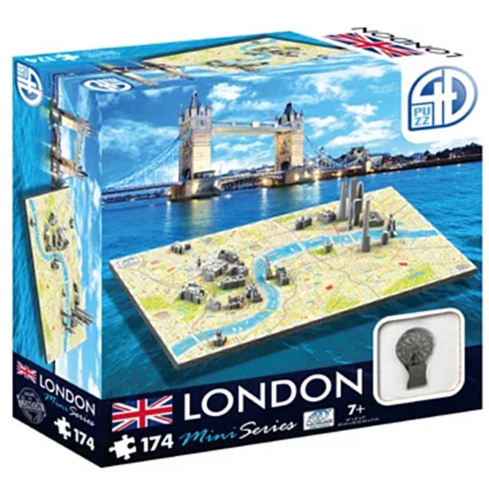 4D Cityscape - 4D-迷你拼圖-倫敦-174片