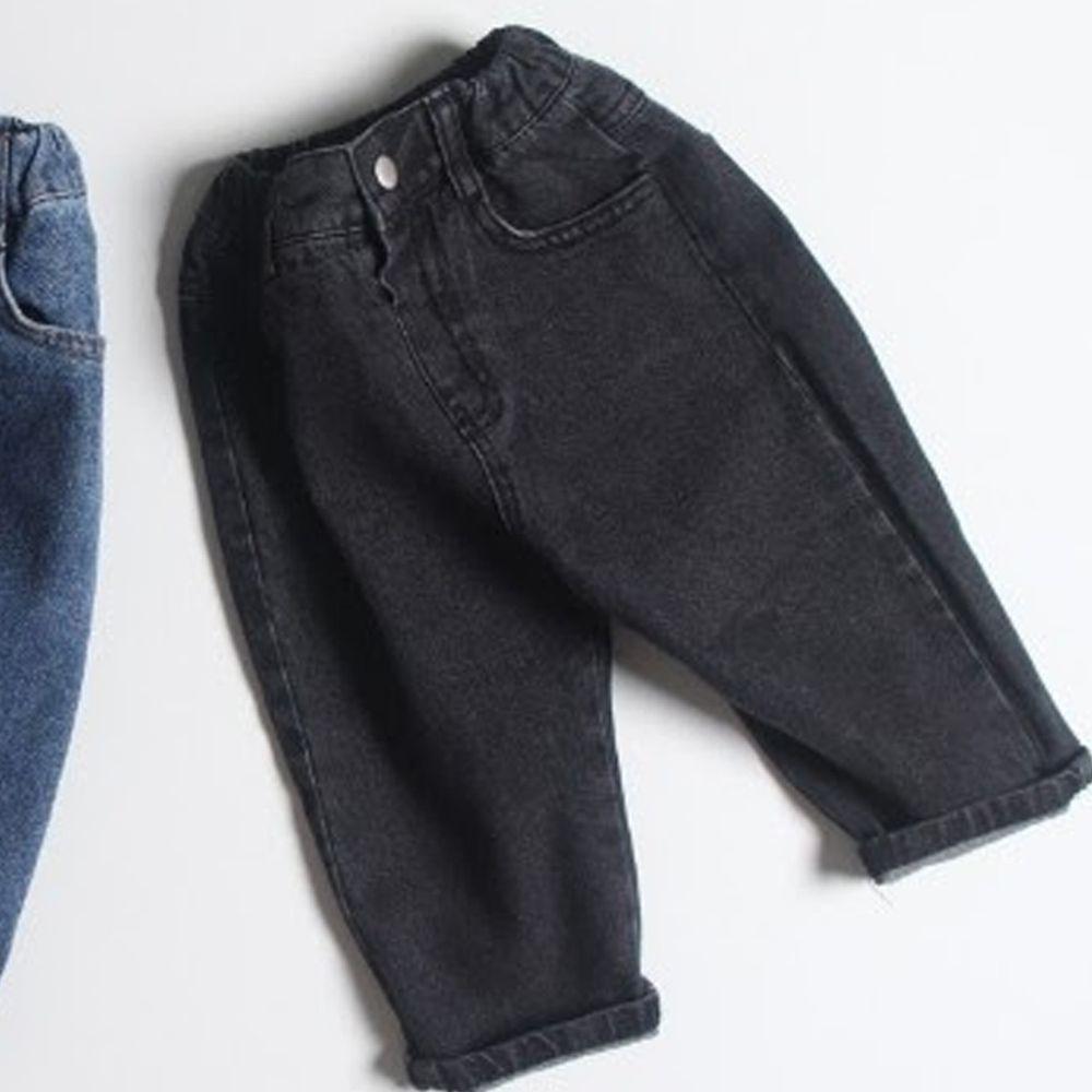 韓國 First Blue - (剩15號)牛仔哈倫褲-黑