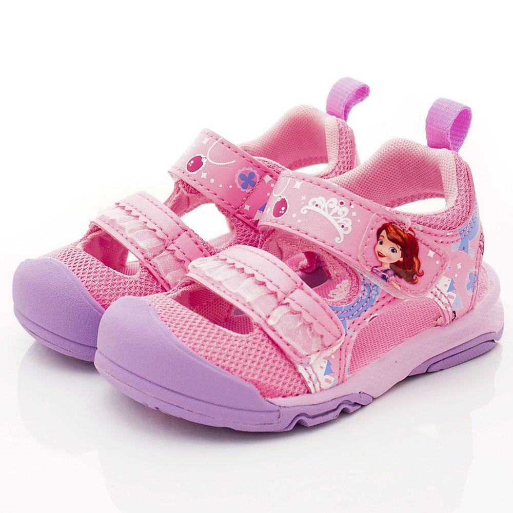 Moonstar日本月星 - 日本月星機能童鞋-冰雪聯名護趾涼鞋款(中小童段)-粉