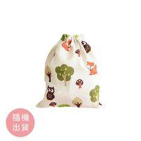 [滿額贈贈品] 可愛動物布製束口袋 -款式隨機出貨-24.5x20cm X 1