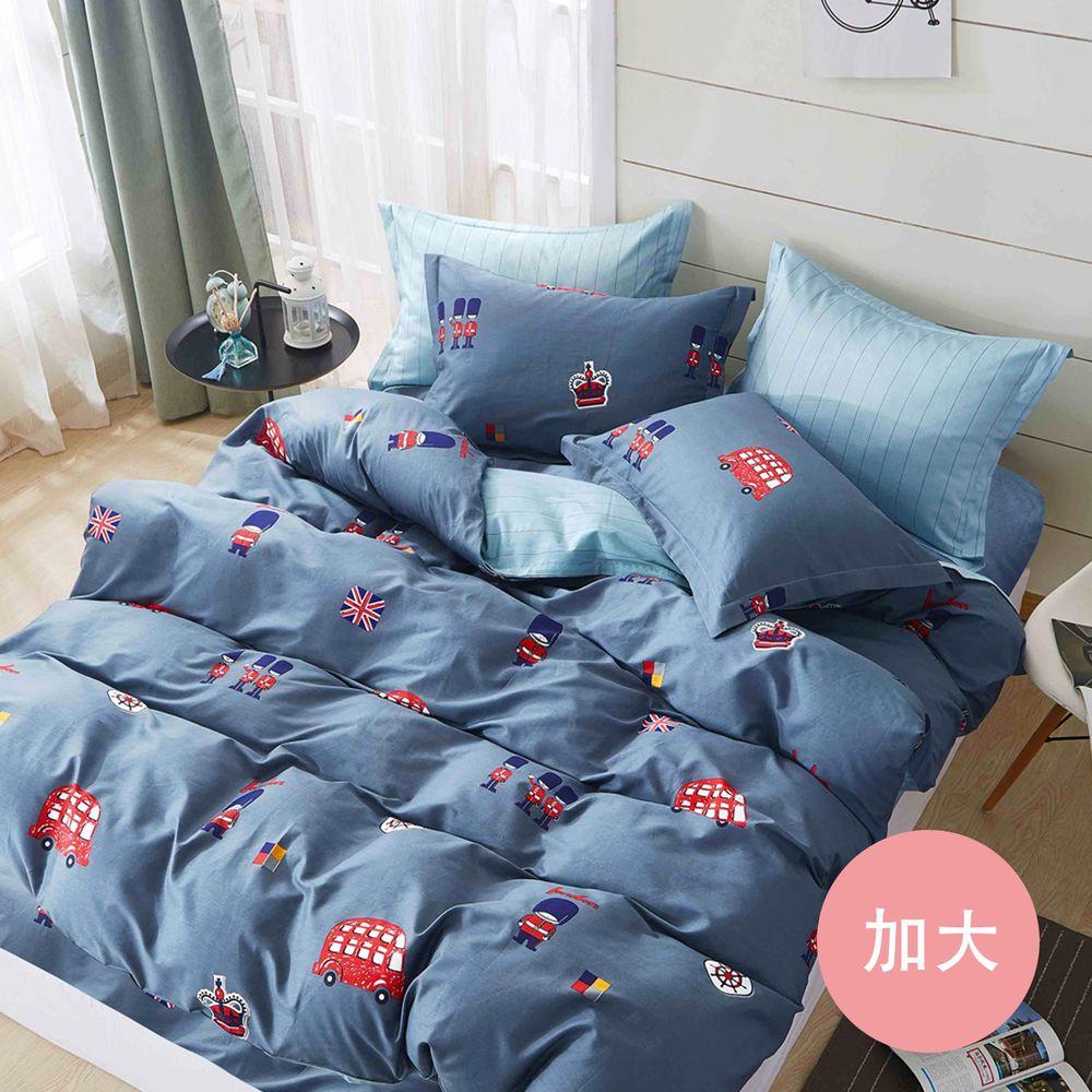 PureOne - 極致純棉寢具組-倫敦小鎮-加大三件式床包組
