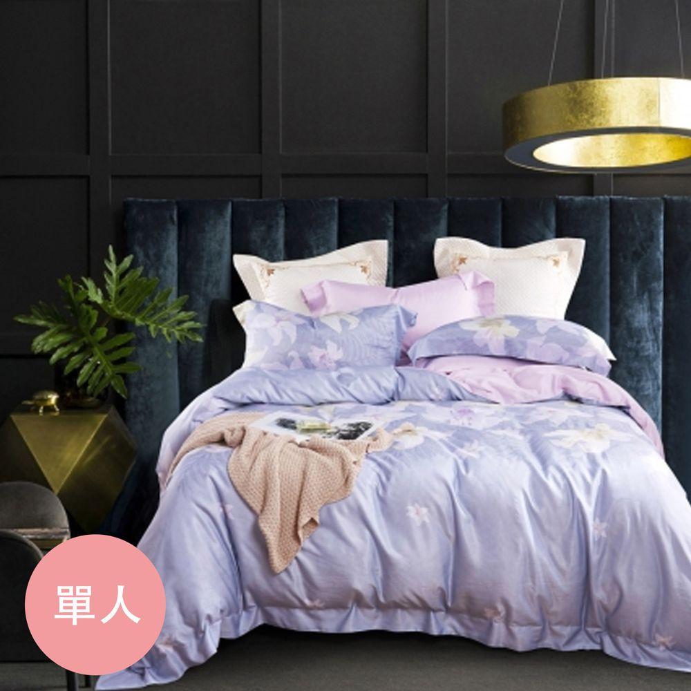 PureOne - 吸濕排汗天絲-濃妝-單人床包枕套組(含床包*1+枕套*1)