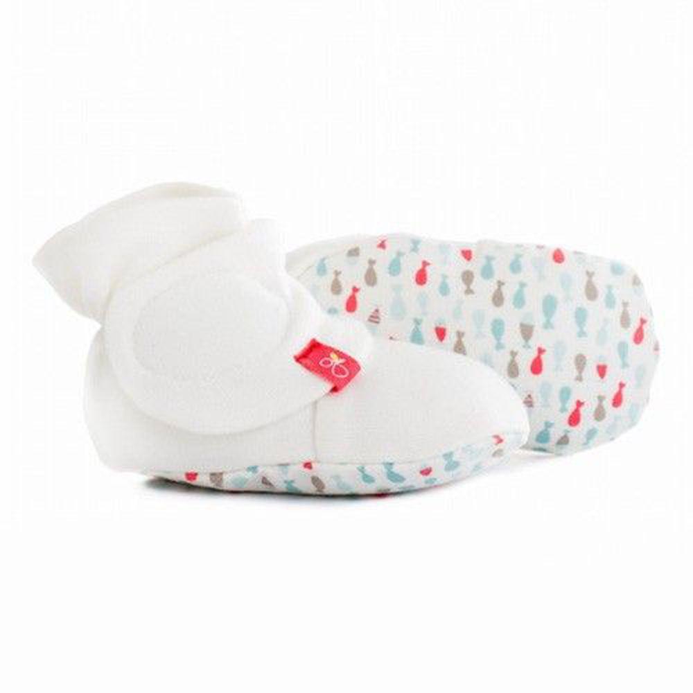 美國 GOUMIKIDS - 有機棉嬰兒腳套-小小魚-甜心