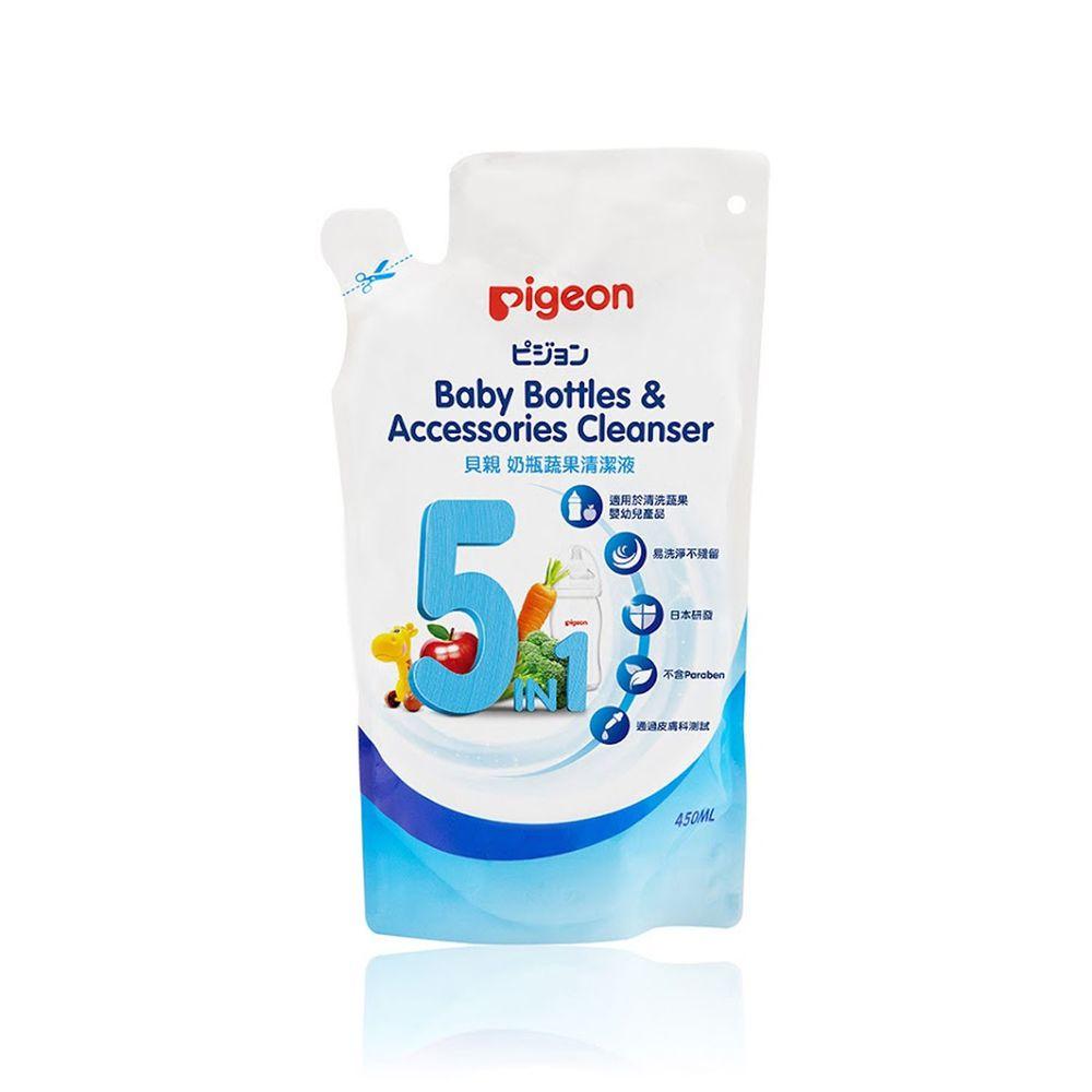 貝親 Pigeon - 奶瓶蔬果清潔液補充包-450ml