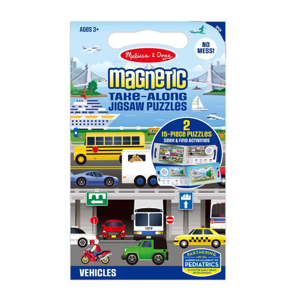 美國瑪莉莎 Melissa & Doug - MD 拼圖-磁力拼圖遊戲書, 交通, 30片