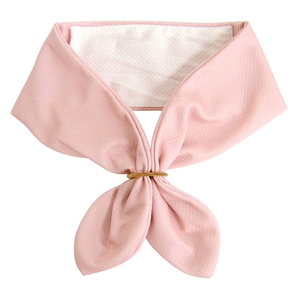 日本 DAIKAI - 抗UV接觸冷感 水涼感領巾(可放保冷劑)-純色-粉紅 (70x8cm)
