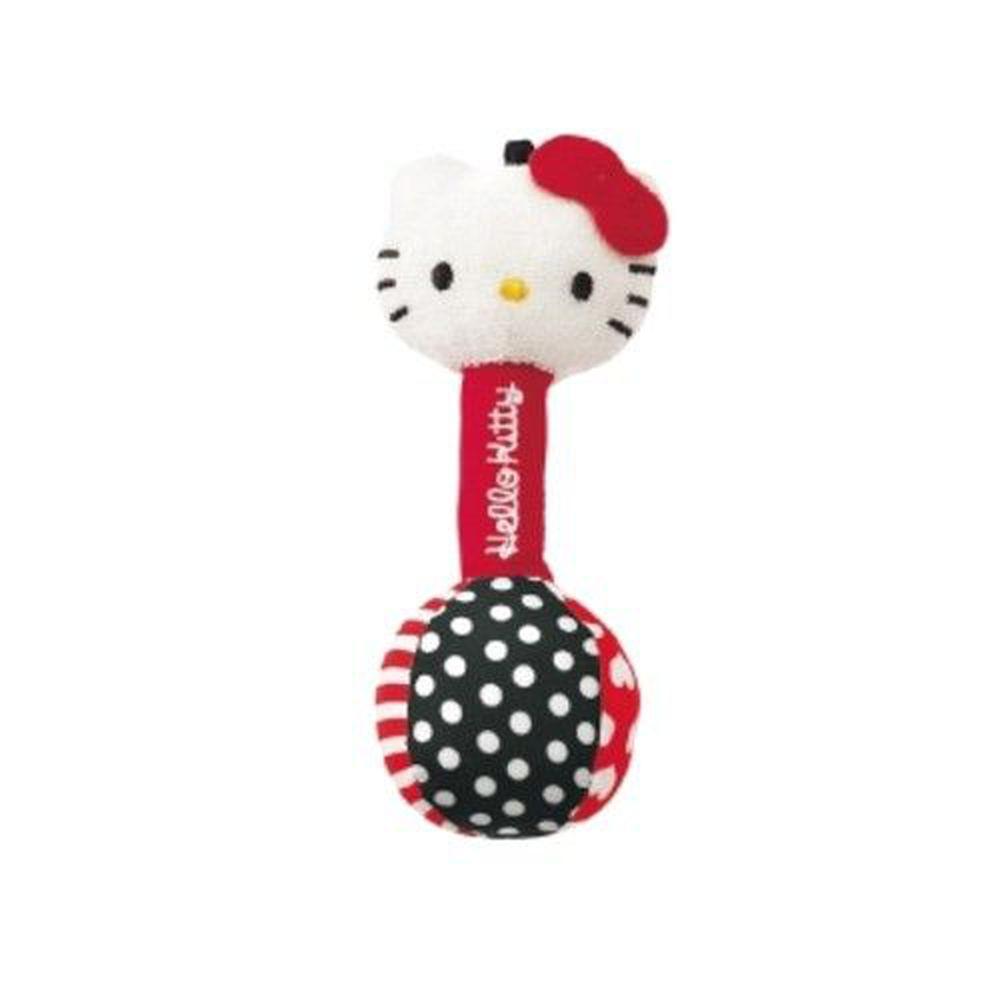 日本 Combi - Hello Kitty啞鈴型布物固齒手搖鈴-0個月起