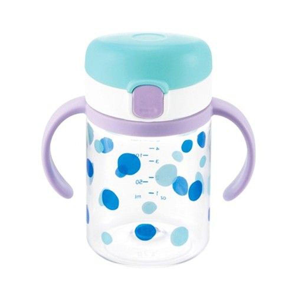 日本 Richell 利其爾 - 第三代 LC 兒童雙握把直飲杯兒童水壺-普普風-200ml
