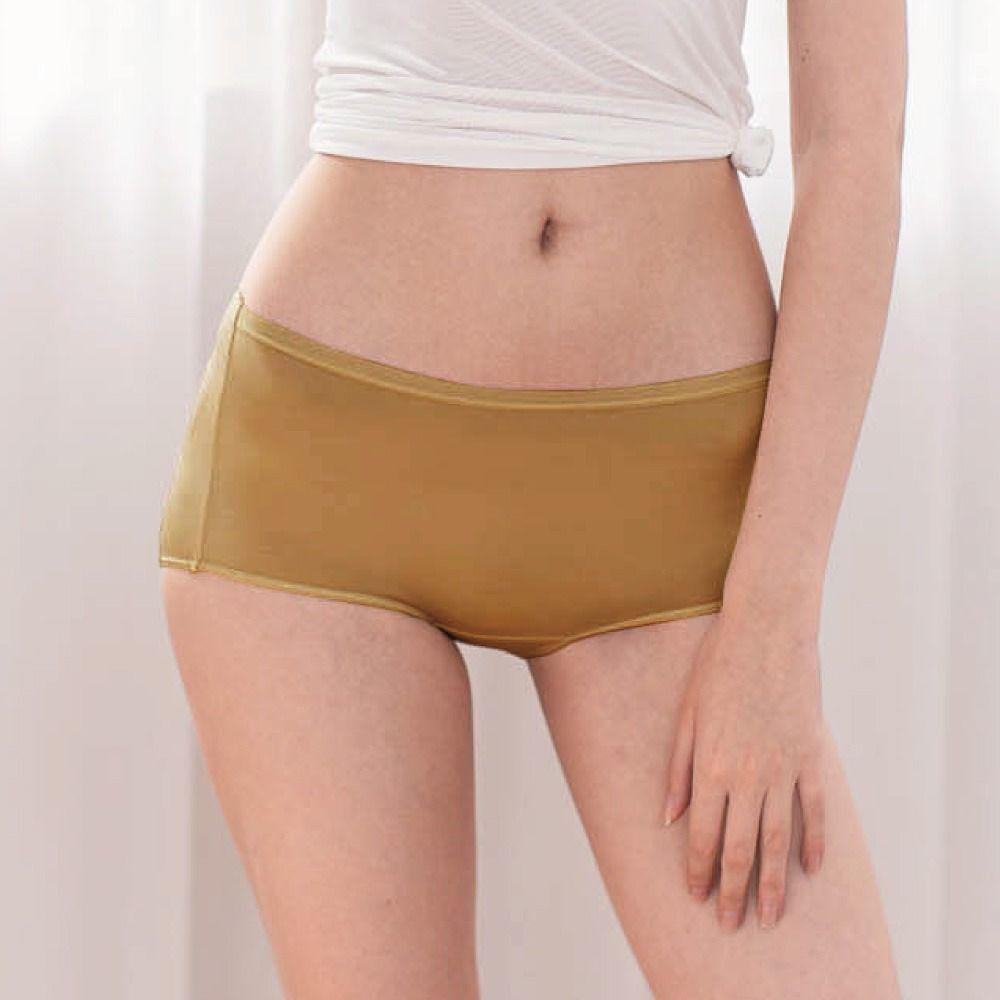 貝柔 Peilou - 天絲棉舒膚平衡女三角內褲-中腰-膚色(深淺色混出)