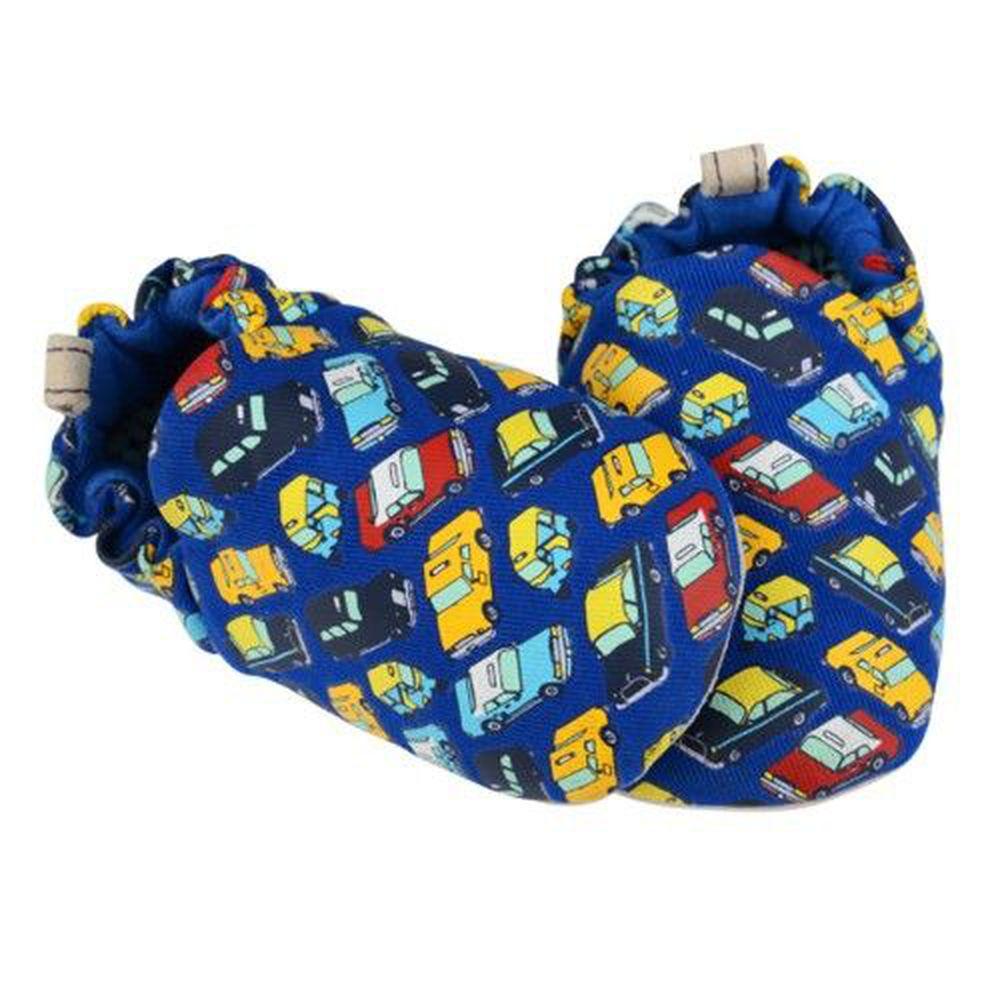 英國 Poconido - 寶寶手工鞋/學步鞋-小小汽車