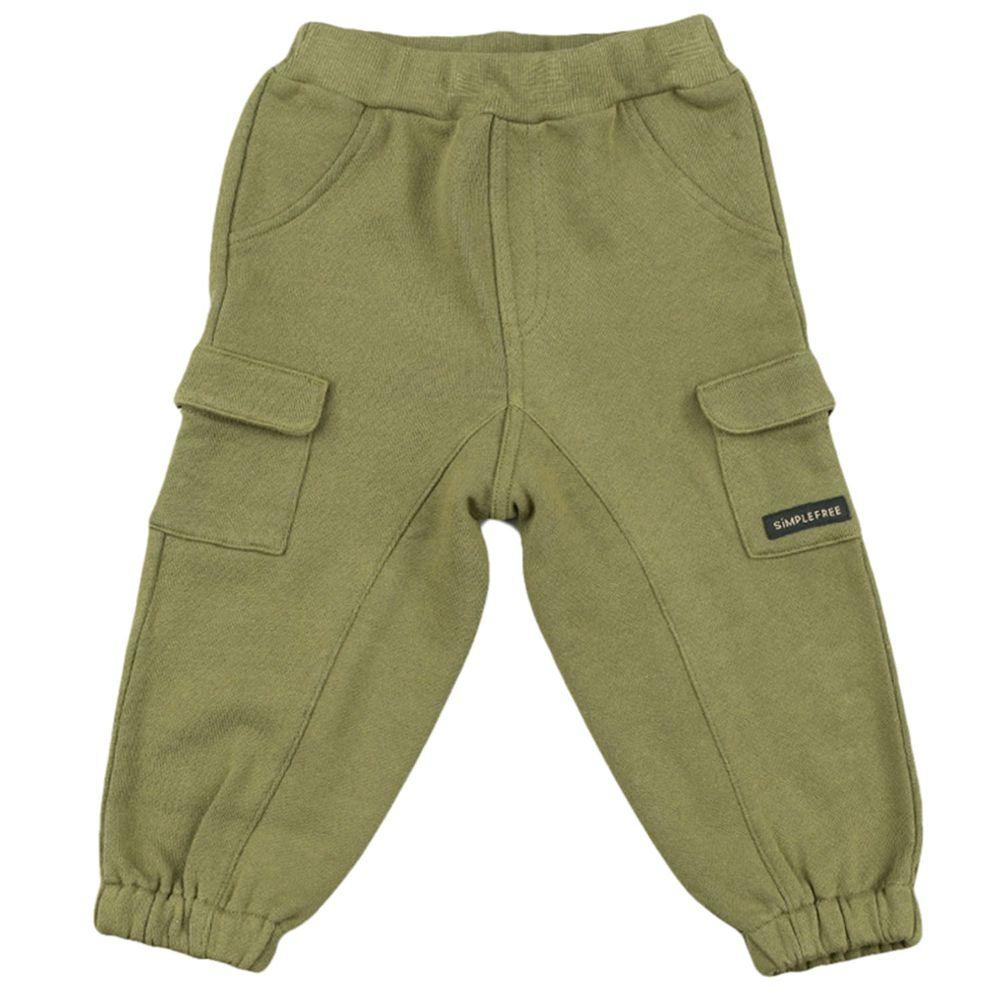 akachan honpo - 10分工作褲-軍綠色
