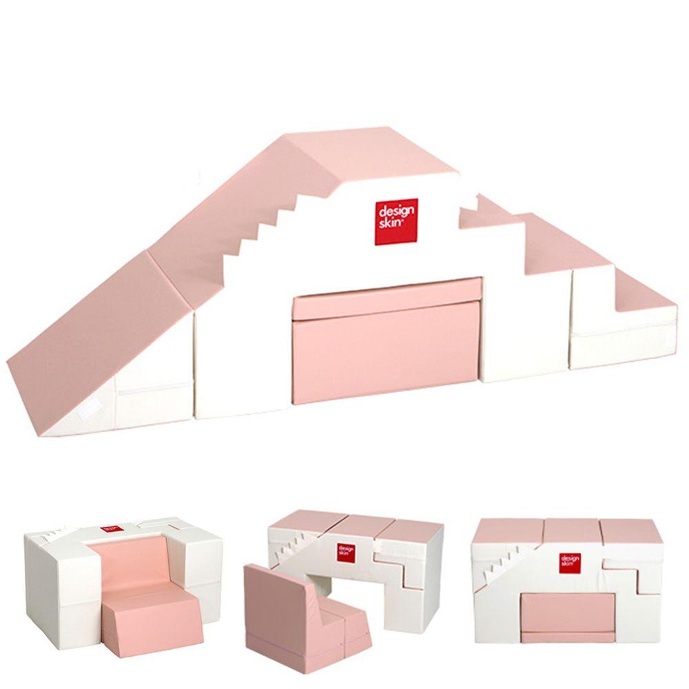 Design Skin - 溜滑梯變形沙發桌椅/兒童沙發-粉色