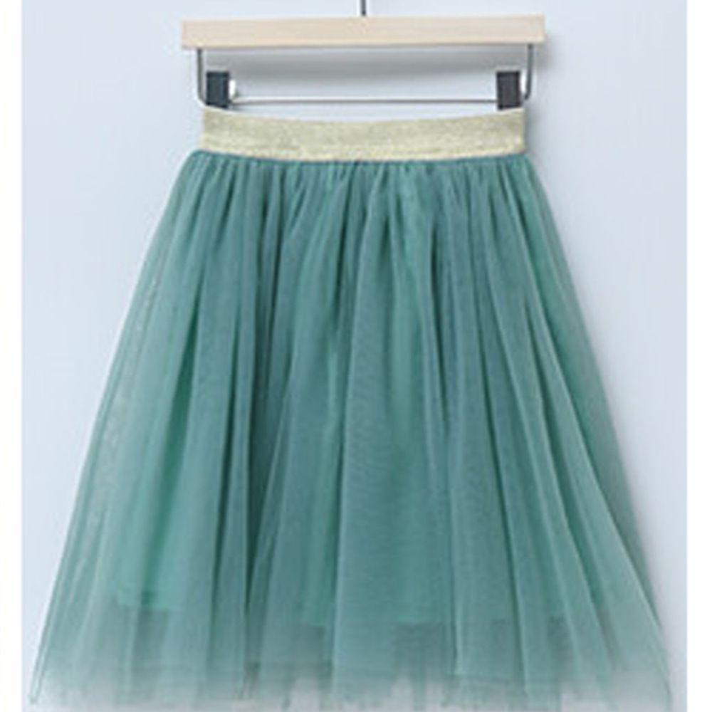 日本 Maison de Ravi - 唯美薄紗及膝澎澎裙-清新綠