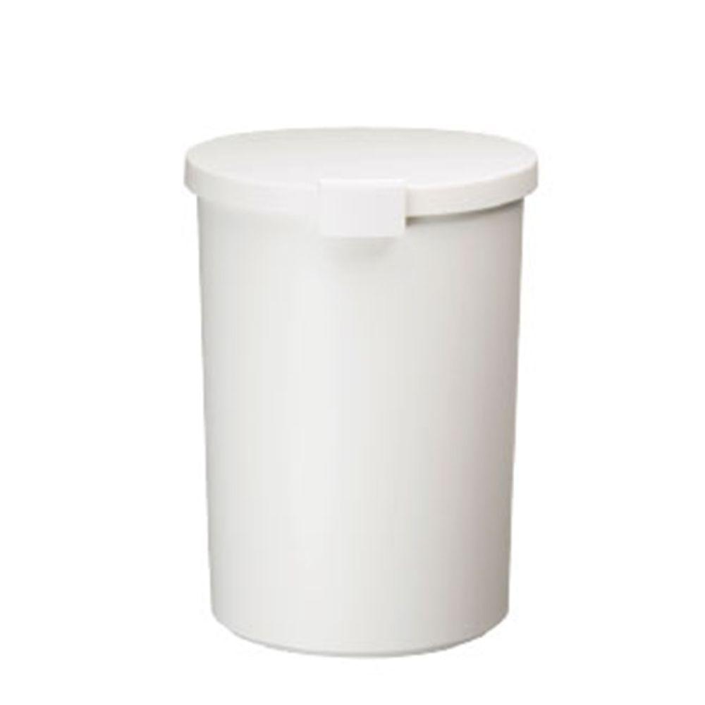 日本岩谷Iwatani - 日本製圓形可分類密封防臭垃圾桶-12.4L-白